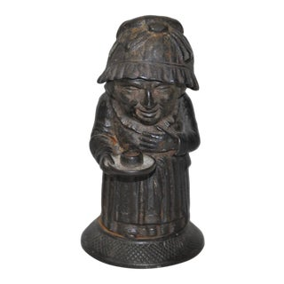Rare Mid 19th Century Cast Iron Match Holder by Zimmerman of Hanau, Germany C.1850 For Sale