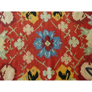 "Old Bessarabian Floral Kilim Rug - 88"" X 116"" Preview"