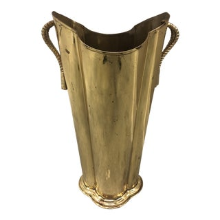 Brass Rope & Tassel Umbrella Stand For Sale