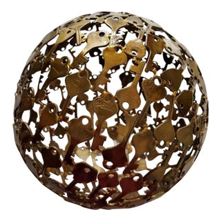 Brass Key Sphere Sculpture