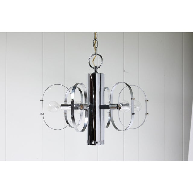 Mid-Century Modern 7-Light Chrome Fixture by Forecast Lighting For Sale - Image 11 of 13