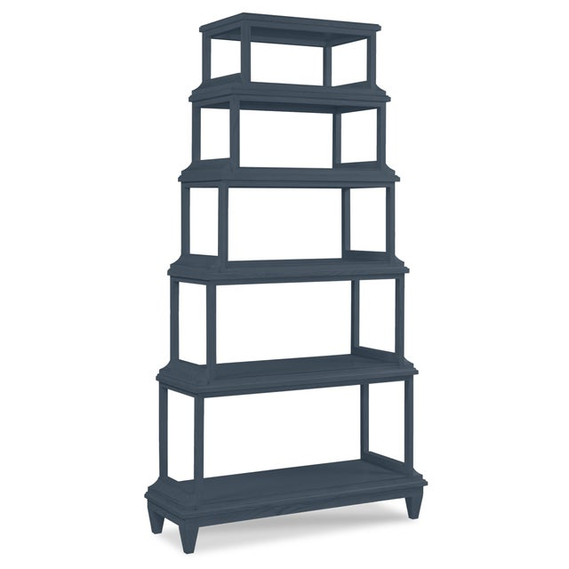 Asian Jules Etagere, Hale Navy For Sale - Image 3 of 3