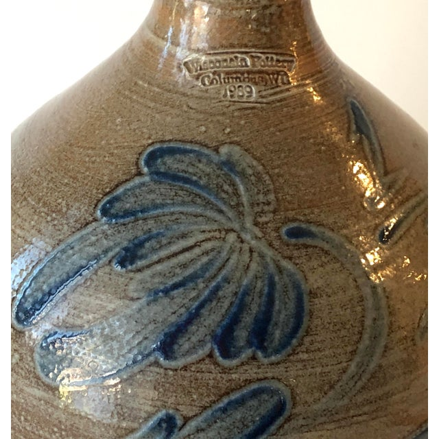Salt Glazed Jug With Handle - Vintage Farmhouse For Sale In New York - Image 6 of 13