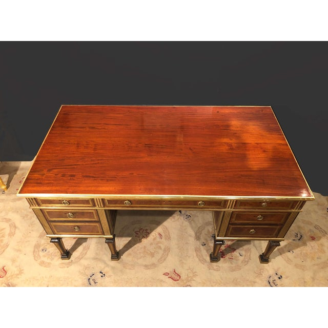 Mid 19th Century Russian Neoclassic Mahogany Desk For Sale - Image 5 of 10