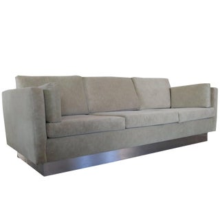 Tuxedo Sofa in Milo Baughman Style For Sale