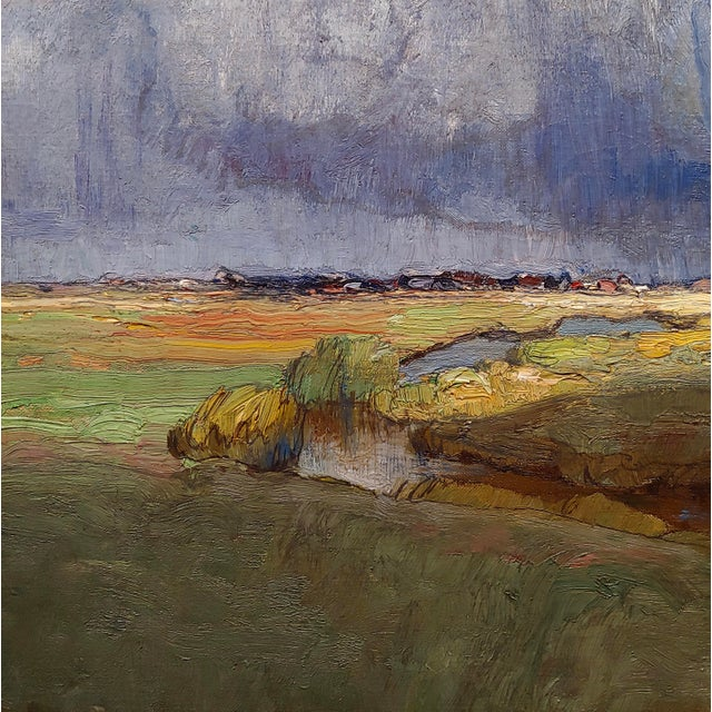 """Richard Kaiser """"River Running Through a Countryside Landscape"""" Oil Painting, 19th Century For Sale In Los Angeles - Image 6 of 12"""