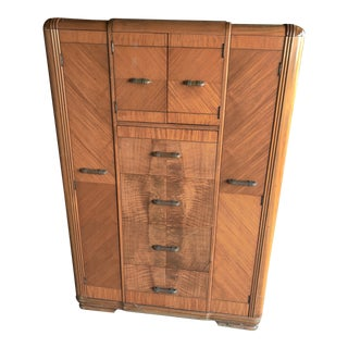 Vintage Art Deco Armoire/Wardrobe For Sale