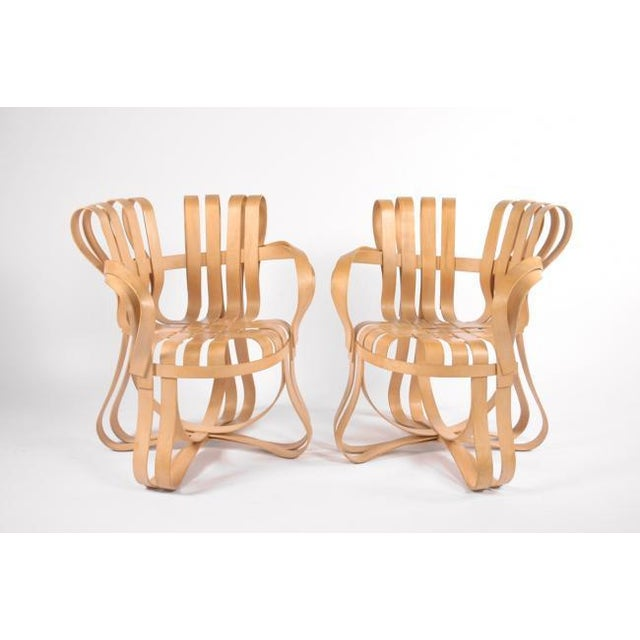 Brown 1990s Vintage Frank Gehry Cross Check Chairs- A Pair For Sale - Image 8 of 8