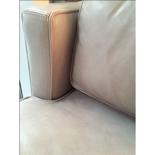 Williams Sonoma Presidio Leather Settee - Image 6 of 7