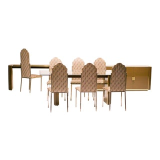Spectacular Dining Room Set, Alain Delon for Maison Jansen For Sale