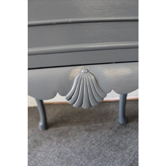 Country French Charcoal Gray Side/End Table - Image 8 of 10
