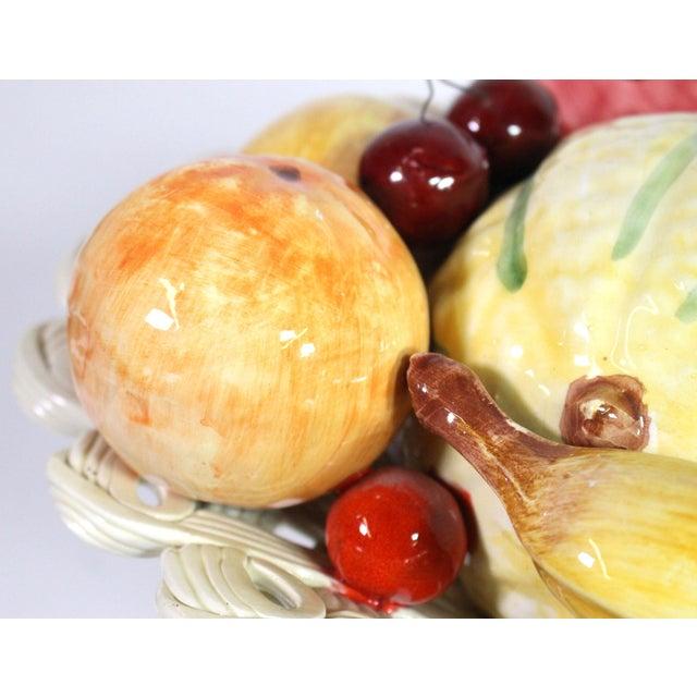Ceramic 1940s Handmade Porcelain Italian Topiary Fruit on Lattice Pedestal For Sale - Image 7 of 8