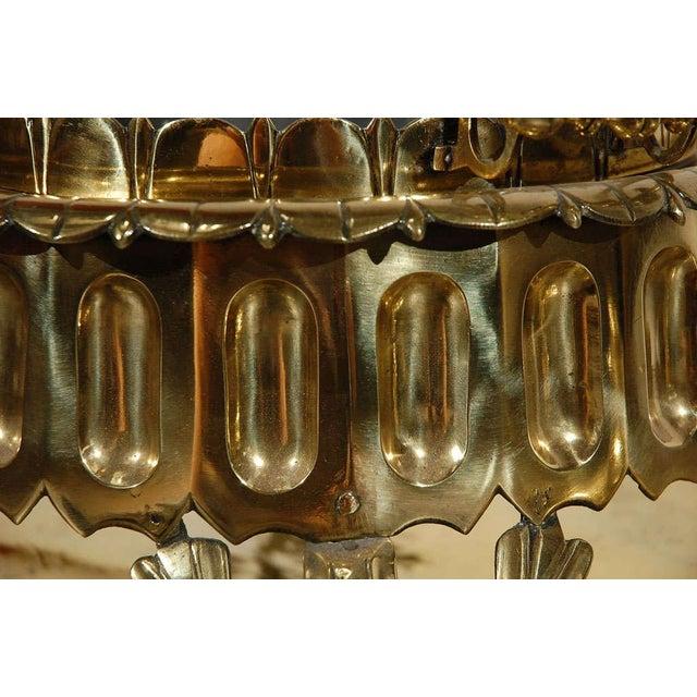 Middle Eastern Polished Brass Incense Burner For Sale - Image 9 of 10