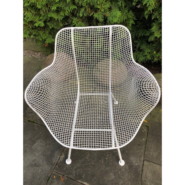"""1950s Woodard """"Sculptura"""" White Patio Chairs - a Pair For Sale - Image 11 of 14"""
