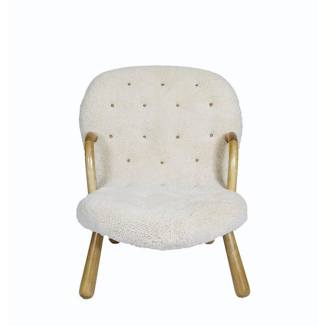 """Textile Philip Arctander """"Clam"""" Chair For Sale - Image 7 of 10"""
