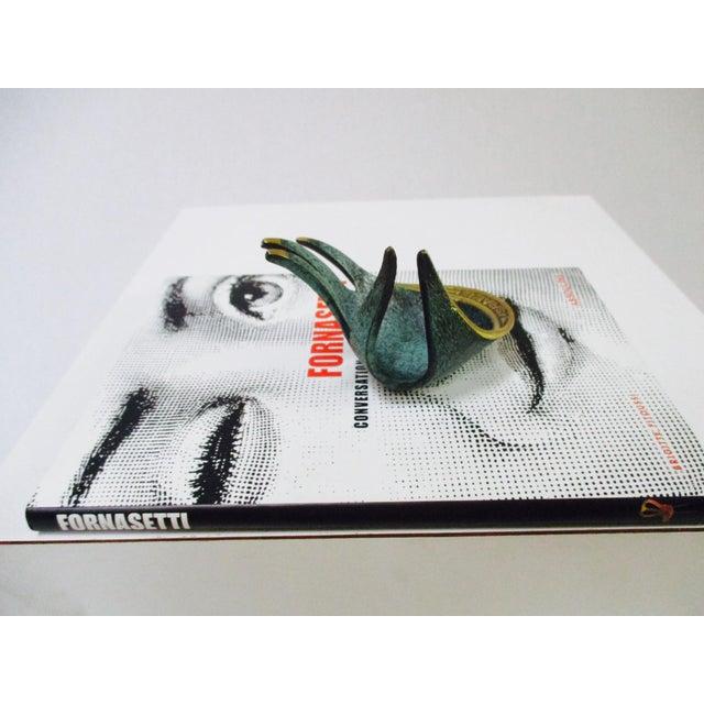 Modernist Brass Hand Sculptural Form Dish - Image 5 of 9