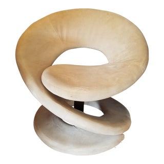Sculptural Spiral Lounge Chair After Louis Durot