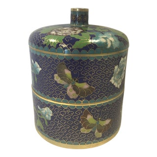 Cloisonné Round Covered Trinket Jewelry Box