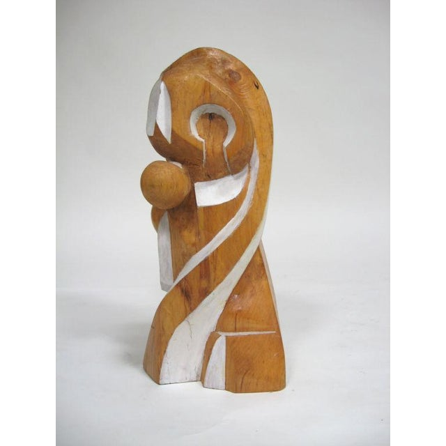 Abstract wood sculpture by Arthur Rossfield - Image 11 of 11