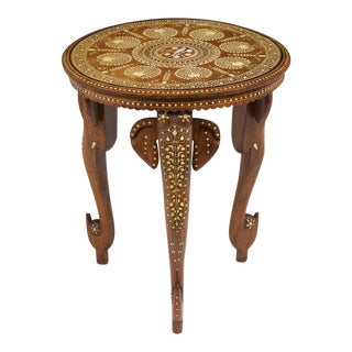 Antique Inlaid Syrian Side Table For Sale