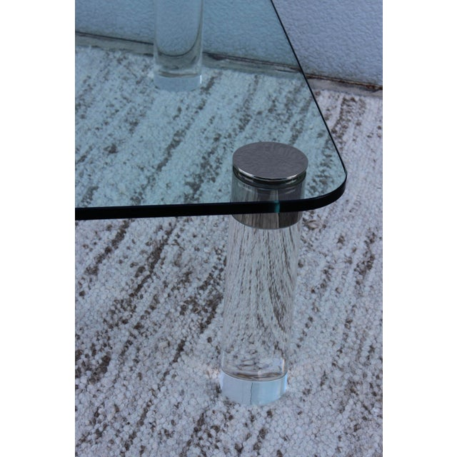 1970's Large Lucite Coffee Table For Sale In New York - Image 6 of 11