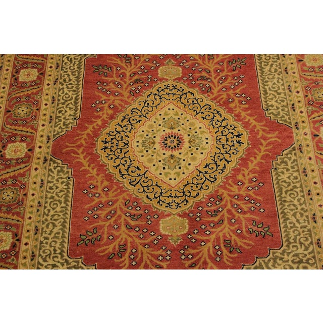 Textile Shabby Chic Istanbul Luke Rust/Gold Turkish Hand-Knotted Rug -4'10 X 5'11 For Sale - Image 7 of 8
