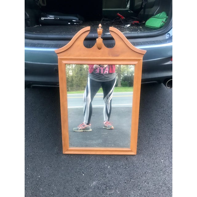 1970s Ethan Allen Mid Century Baumritter Mirror With Finial For Sale - Image 5 of 5