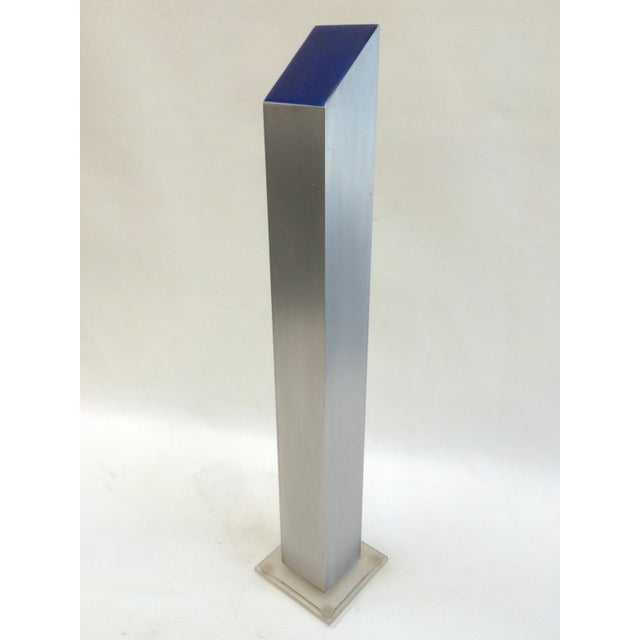 1974 Stainless & Enamel Column Sculpture - Image 2 of 8