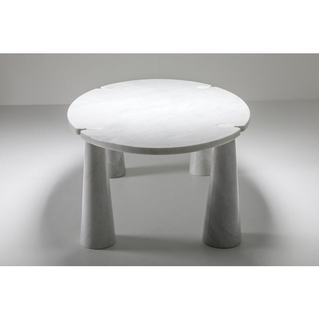 Stone Carrara Marble Dining Table by Angelo Mangiarotti - 1970s For Sale - Image 7 of 13
