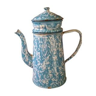 French Enamel Coffee Pot