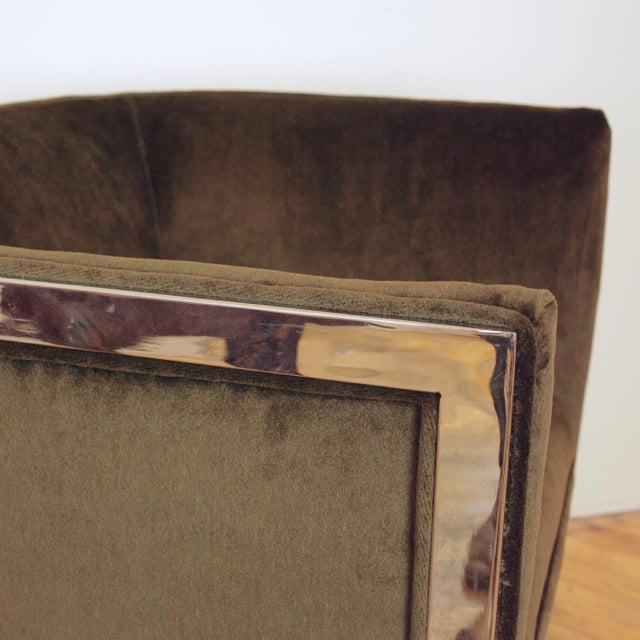 1970s Vintage Metropolitan Barrel Lounge Chairs - a Pair For Sale - Image 9 of 11