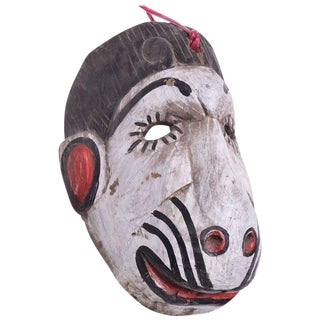 Vintage Guatemalan Folk Art Monkey Dance Mask For Sale