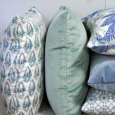 Jalisa Copen Indian Print Pindler Blue and White Pillow Cover For Sale - Image 4 of 6