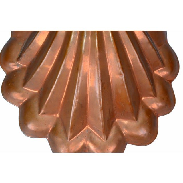 Copper Seashell Bunt Cake Wall Hanging For Sale - Image 4 of 5