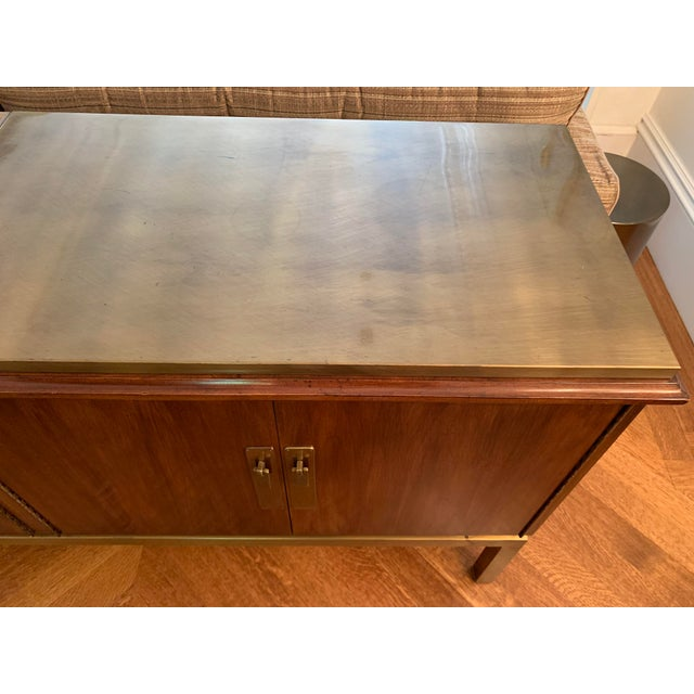 Mid Century Modern Style Mahogany Console For Sale - Image 4 of 7