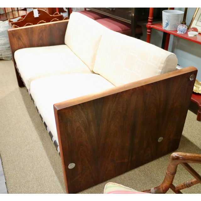 Late 20th Century Milo Baughman Sling Sofa in Rosewood For Sale - Image 5 of 6