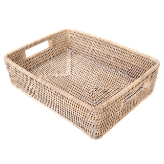 "Artifacts Rattan Rectangular Basket 17""x10""x4"" For Sale"