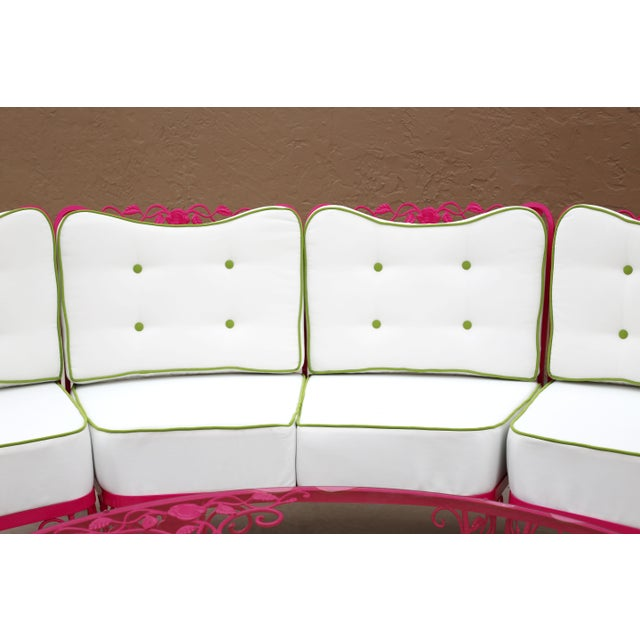Woodard Chantilly Rose Professionally Restored 4-Piece Sectional and Cocktail Table For Sale - Image 10 of 13