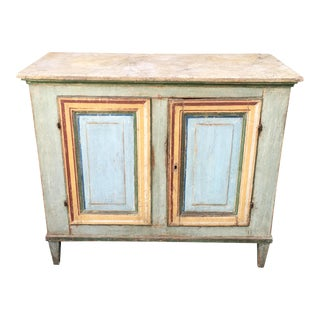 Superb Antique Paint Decorated Rustic Sideboard