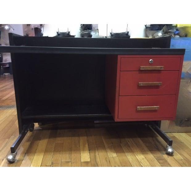 Designcraft 3 Drawer Industrial Desk - Image 2 of 6