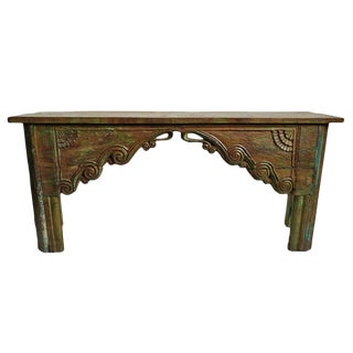 Vintage Architectural Console Table For Sale