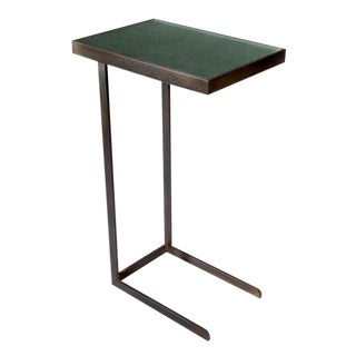 Gotham Collection Gunn Black Steel Side Table For Sale