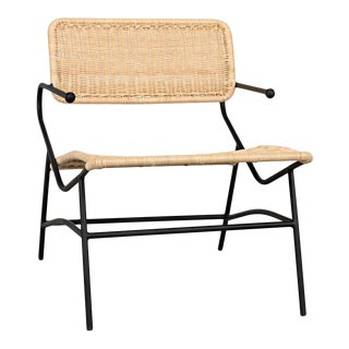 Tenun Woven Chair with Metal Frame For Sale