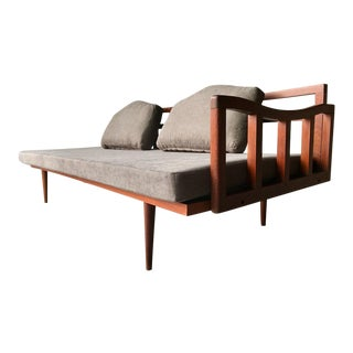 Mid-Century Gray Upholstered Daybed For Sale