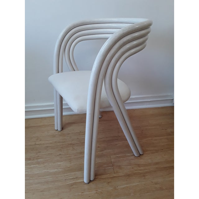 White Painted Dutch Bentwood Armchairs by Jan Des Bouvrie for Rohé Noor - Set of 4 For Sale - Image 9 of 10