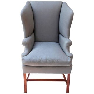 Georgian Style Wingback Chair For Sale