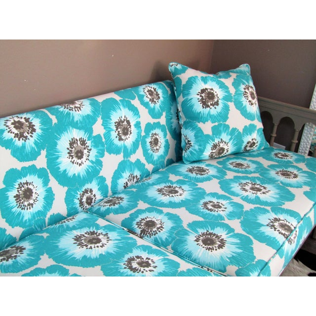 1990s Vintage Colorfully Upholstered Day Bed For Sale - Image 4 of 6