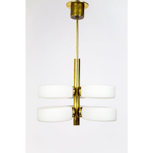Brass Sputnik 6-Light Disk Pendant by Kaiser Leuchten For Sale - Image 7 of 13