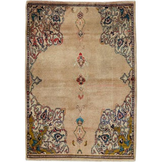 "Vintage Persian Sarouk Rug – Size: 2' 4"" X 3' 3"" For Sale"