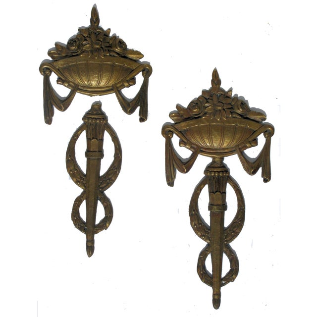 French Napoleonic Bronze Hardware - A Pair For Sale
